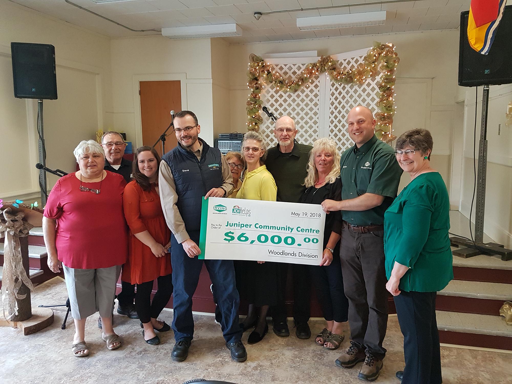 Woodlands Donates To Juniper Community